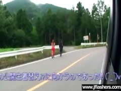 japanese cutie flashing in public and banging