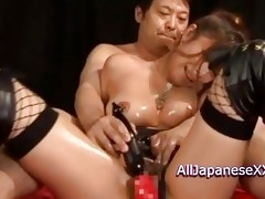 oriental fetish doll acquires three-some hardcore