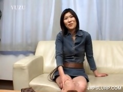 dark brown japanese hoe has joy chatting