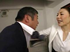 japanese boss copulates her employee so hard at