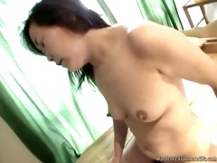 sexy japanese milf receives pounded hard and