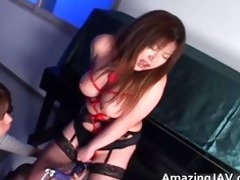 japanese momoko looking sexy in nylons part11