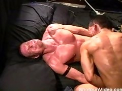 cbt hung muscle guy ball bashing duo.