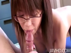 japanese boss kicks her worker previous to toying