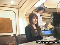 hawt japanese doll acquires threesome hard public