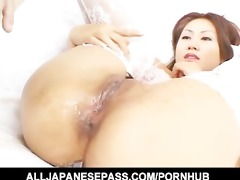 awesome japanese cougar naami hasegawa in white