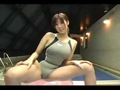 softcore oriental swimsuit exercise