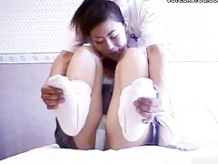 student cutie getting erotic body massage
