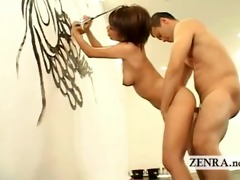 rear intercourse act with painting japanese artist