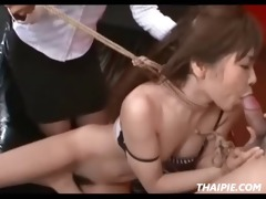 mama and daddy dominate oriental gal