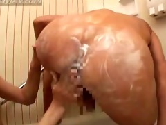 oriental boys begin in hotel shower, then play