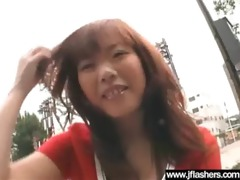 whore japanese love outdoor flashing and fucking