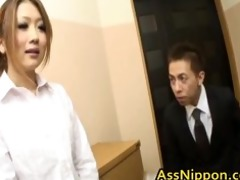 youthful oriental hottie receives one as well as