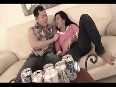 oriental brother and drunk step-sister at
