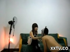 oriental dominatrix slaps a serf indeed hard
