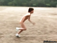 in nature athletes doing hot jumping games part0