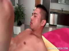 oriental oilly lad tries some gay anal sex