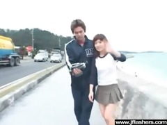 slut japanese disrobe in public and receive