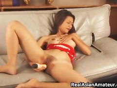 pretty oriental dildoing whilst jerking part5