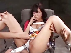 oriental gal next door is masturbation and sextoy