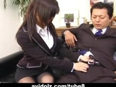sexy secretary satomi maeno sucks an unsightly