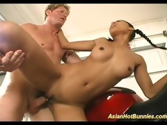 oriental sexy bunny acquires drilled with large