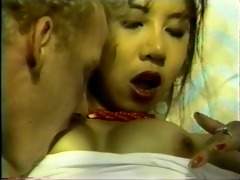 sexy oriental gives wet unfathomable mouth by pool