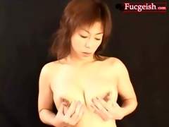 oriental squirts breast milk out of black teats