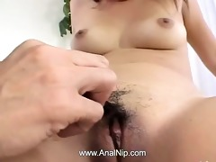 fingers and toys unfathomable in her chinese ass