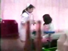 oriental gal stripping on medical exam