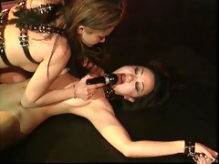 asian bdsm bitch nipps clamped and floozy tied