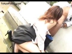japanese outdoor public cocksucker