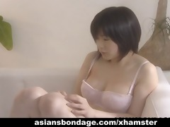 cute japanese lesbos have a fun trio perverted