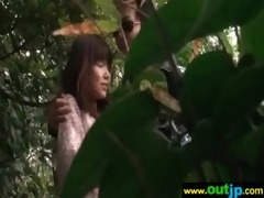 hard sex in outdoor place with cute japanese girl