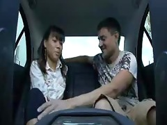 cute oriental miley villa drilled in the backseat