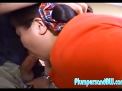 oriental big beautiful woman tyung lee bounces on
