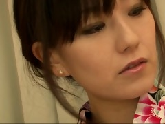 cute oriental cougar manami komukai some action