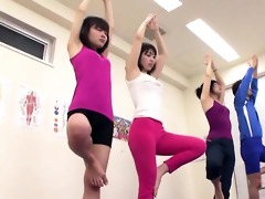 subtitled japanese yoga stretching class eager