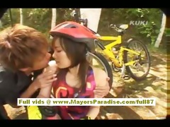 yua aida asian teen does oral-stimulation and