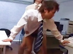 raw japanese homosexual anal office delight