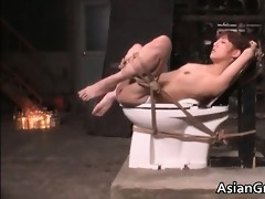 cute oriental sweetheart in servitude sex acquires
