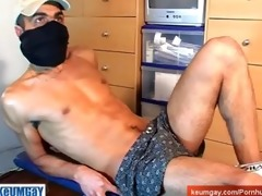 str arab boy get wanked his huge jock by a guy !