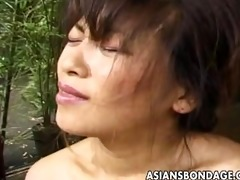 japanese hottie fastened and abused in