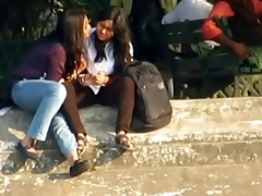 indian lesbos smooch publicly