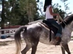 my in nature oriental girlfriend riding horse