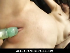 minami asaka pleasing oriental honey is tied up