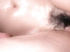 moist asian siren receives cunt filled with