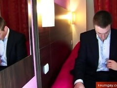 real str french banker lad get wanked by a chap !