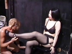 lads worship oriental mistress in taiwanese
