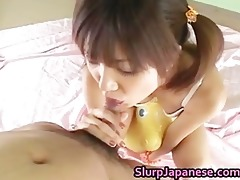 rika hayama sucks a weenie and receives cum part3